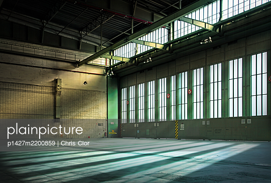 Germany, Berlin, Interior of abandoned Tempelhof Airport - p1427m2200859 by Chris Clor