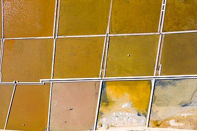 Malta, Bugibba, Aerial view, Saltern - p1332m2286070 by Tamboly