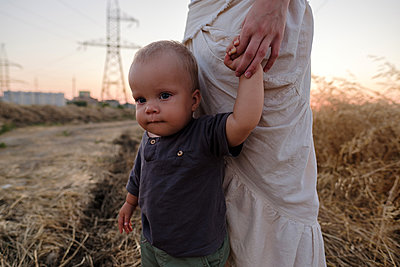 Mother and son - p1363m2258711 by Valery Skurydin