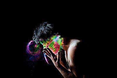 Colourful powder - p1165m952637 by Pierro Luca