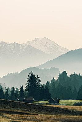 Alpine upland scenery near Mittenwald - p081m1137255 by Alexander Keller