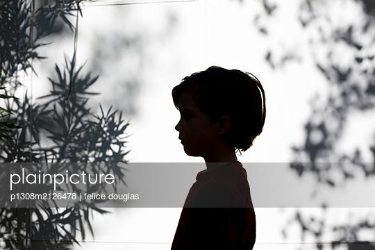 Silhouette kid - p1308m2126478 by felice douglas