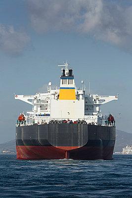 Gibraltar, Oil tanker on the Mediterranean Sea - p300m873648 by Sebastian Kanzler