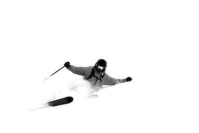 A man skis in Wyoming - p3436752f by Derek DiLuzio