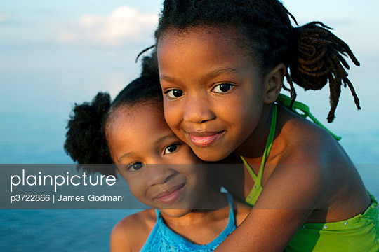 Portrait of two young girls - p3722866 by James Godman