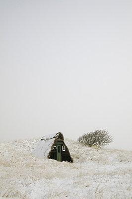 Cabin in winter - p992m791659 by Carmen Spitznagel