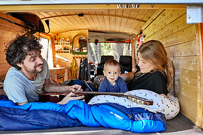 Family holiday in the mobile home - p1146m2196077 by Stephanie Uhlenbrock