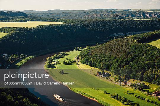 Elb River from Königstein Fortress - p1085m1105024 by David Carreno Hansen