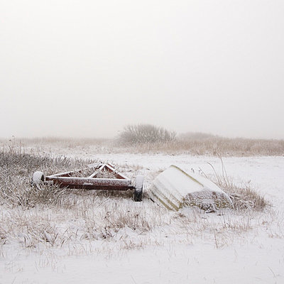 Boat in winter - p992m791653 by Carmen Spitznagel