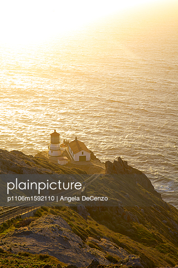 Point Reyes Lighthouse on the Pacific Ocean - p1106m1592110 by Angela DeCenzo