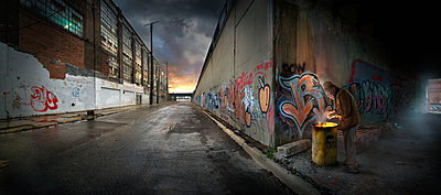 Graffiti on urban walls - p555m1454200 by Chris Clor