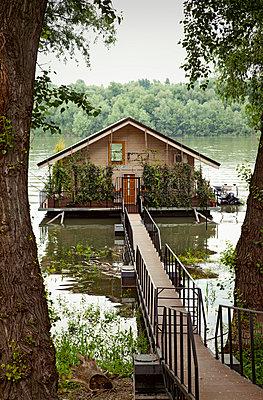 Boat house in Serbia - p382m1486908 by Anna Matzen