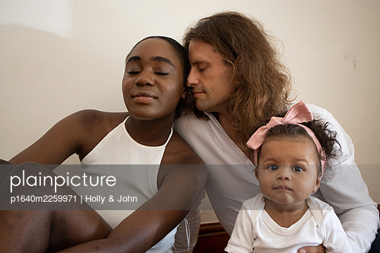 Multi ethnic family with toddler girl - p1640m2259971 by Holly & John