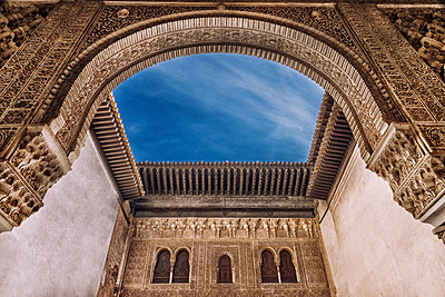 Interior courtyard of the Alhambra - p1445m2150454 by Eugenia Kyriakopoulou