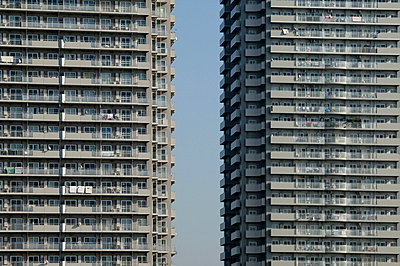 Detail of two tower blocks - p3882018 by L.B.Jeffries