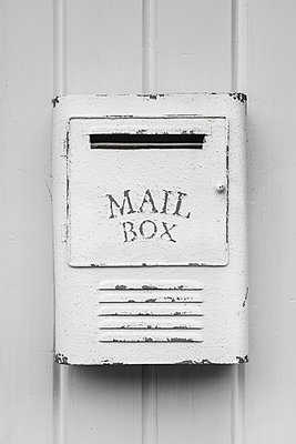 Vintage white letterbox - p1280m2223568 by Dave Wall