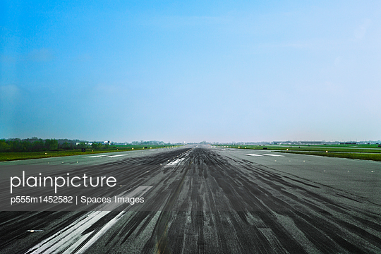 Markings on airplane runway