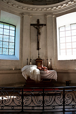 Woman in church - p1521m2064505 by Charlotte Zobel