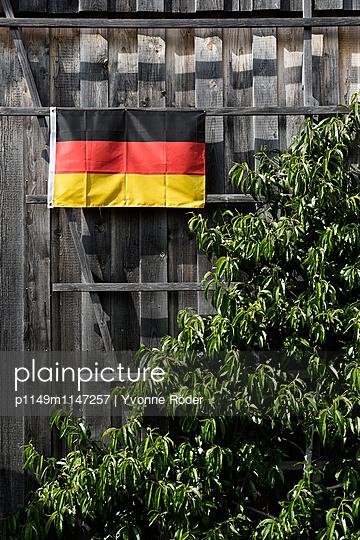 Schwarz-Rot-Gold an der Scheune - p1149m1147257 von Yvonne Röder