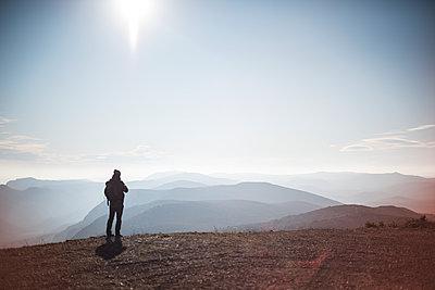 Man in the mountain around Montpellier - p1007m2092387 by Tilby Vattard