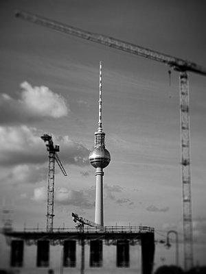 Germany, Berlin, Alexanderplatz Television Tower - p1072m2160760 by Neville Mountford-Hoare