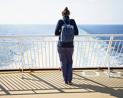 Woman on ferry - p1124m933496 by Willing-Holtz