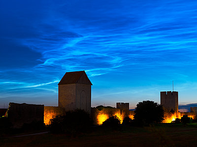 Illuminated castle at dusk - p312m1084409f by Michael Jonsson