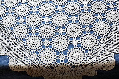 Crocheted tablecloth - p3670069 by Tim Kubach
