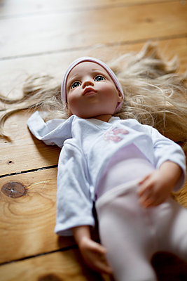 Doll with blond hair - p699m2007790 by Sonja Speck