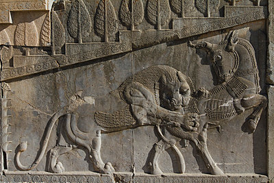 Bas-relief of the representation of all nations of the Persian empire - p798m1025693 by Florian Loebermann