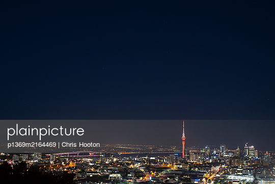 View of Auckland city from Mount Eden - p1369m2164469 by Chris Hooton