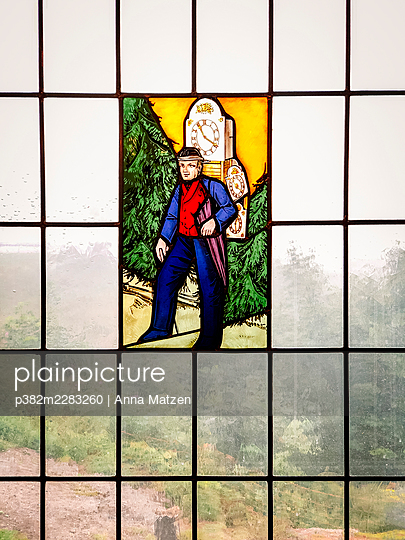Black Forest stained glass - p382m2283260 by Anna Matzen