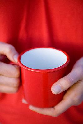 Rote Tasse - p4540452 von Lubitz + Dorner