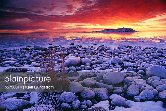 Rocks at seashore - p5750014 by Kjell Ljungstrom