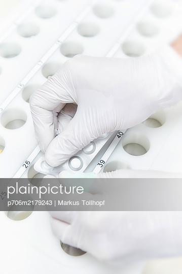Sorting medicine, sterile work area - p706m2179243 by Markus Tollhopf