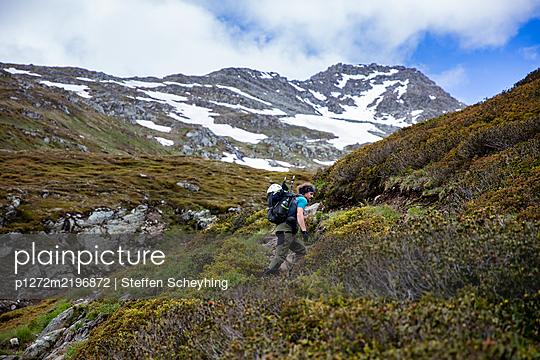 Hiking In The Alps - p1272m2196872 by Steffen Scheyhing
