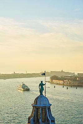 Fery traffic in Venice - p1312m1575209 by Axel Killian
