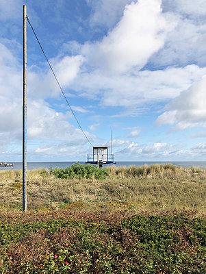 Rettungsturm  in Bansin auf Usedom - p237m2215629 von Thordis Rüggeberg