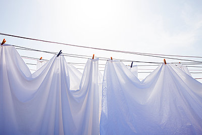 White washing on the line - p304m1093921 by R. Wolf