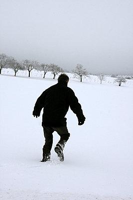 Man on the run - p4760333 by Ilona Wellmann