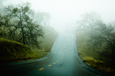 Country road in the fog - p704m1476468 by Daniel Roos