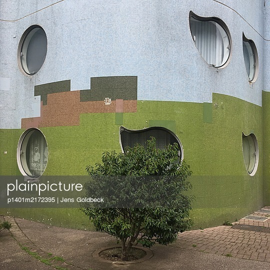 House front, Cité Pablo Picasso, Paris - p1401m2172395 by Jens Goldbeck