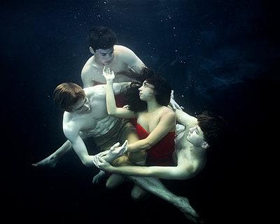 underwater ballet dancers  - p1554m2159063 by Tina Gutierrez