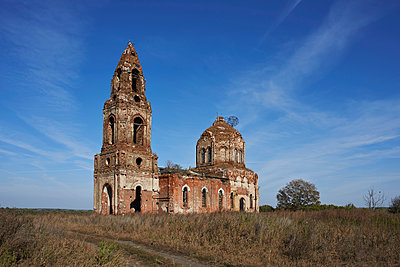 Ruin of Russian Orthodox Church in Russia - p390m1159291 by Frank Herfort