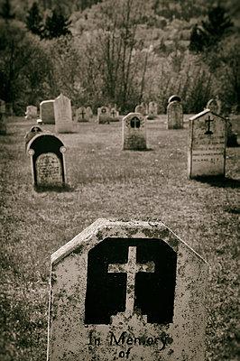 Alter Friedhof in Nova Scotia - p470m1190633 von Ingrid Michel