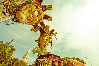 Italy, Venice, Carneval masks - p300m1032896 by Karl Thomas