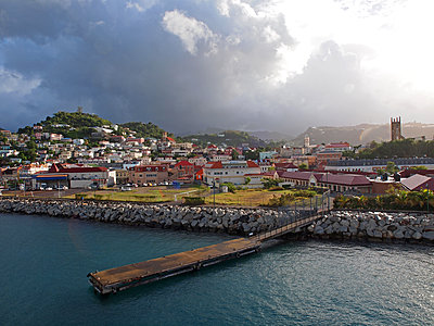 View of harbour town St George's - p338m1355502 by Marion Beckhäuser