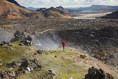 Island, Obsidianlavafeld Laugahraun - p1294m1201568 von Sabine Bungert