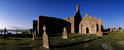 Clonmacnoise Monastery, Co Offaly, Ireland - p4428803 by The Irish Image Collection