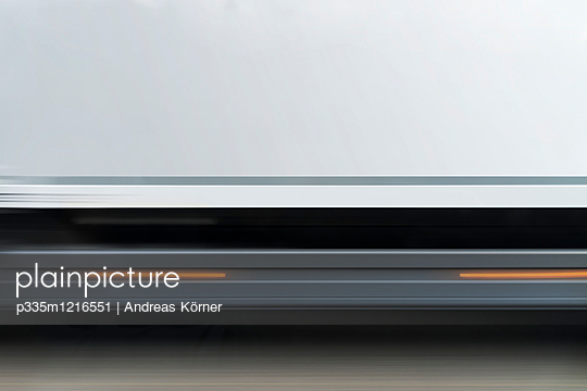 Side view of truck on highway - p335m1216551 by Andreas Körner